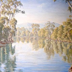Airport Art - Harry Spencer - River Murray Scene