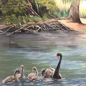 Airport Art - Kathy O'Brien - Springtime At Duck Lagoon
