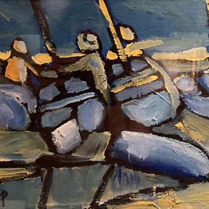 Airport Art - Neil Sheppard - Blue Boats