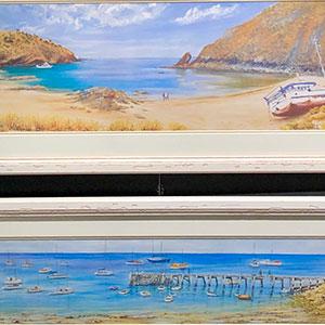 Airport Art - Christine Ley - Christmas Cove, Snug Cove, Fisherman's Jetty