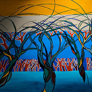 Airport Art - Sara Hourez - March Of The Trees
